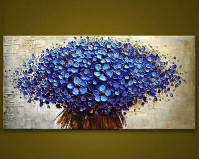 """Modern Abstract orchid  Canvas Wall Art hand Painted Oil Painting"""" no frame"""""""