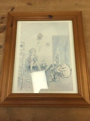 E H Shepard Winnie The Pooh Pencil Drawing Print In Frame