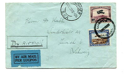 South West Africa 1931 3d. + 10d. commercial Air Mail cover Windhoek to Zurich