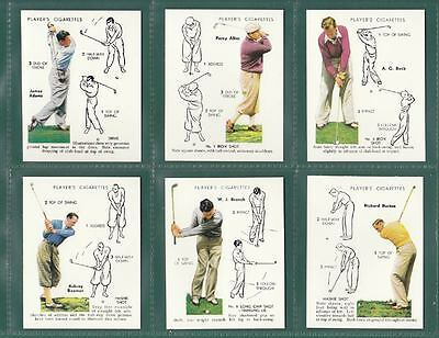 Victoria  Gallery  -  Set  Of  L 25  Players  ' Golf '  Cards