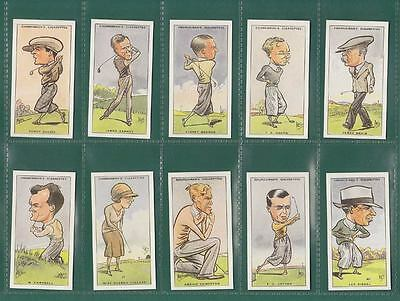 Golf - Set Of 50 Churchman ' Prominent  Golfers ' Cards - Reprints