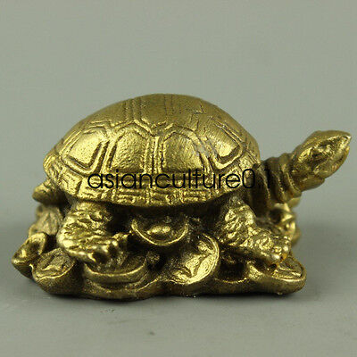 Chinese fine decoration bronze statue lovely tortoise LMQ431