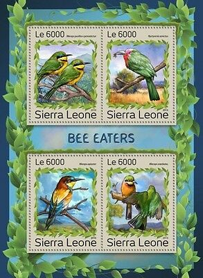 Z08 IMPERFORATED SRL161214a SIERRA LEONE 2016 Bee-eaters MNH ** Postfrisch