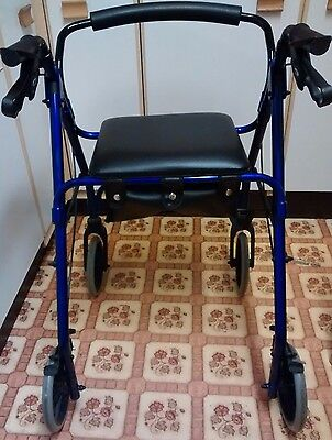 Lightweight Rollator walking aid with seat
