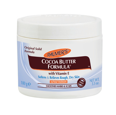 Palmers Cocoa Butter Original Solid Formula Cream Jar 125g Vitamin E