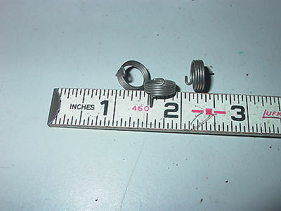 Lot Of Three Stainless Steel Four Coil Small Torsion Springs