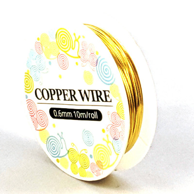 1 x 8M ROLL Gold Plated Copper Wire 0.6mm Nickel Free Jewellery Craft Making