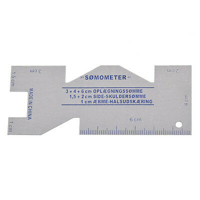 Metal Somometer Sewing Measuring Gauge Quilting Ruler Rulers Tool DIY Making