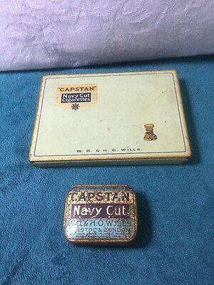 Vintage Capstan Navy Cut tobacco tin and cigarette tin