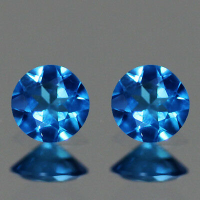 0.49Cts Round Shape_100% Natural Blue Apatite-Brazil -Loose Gemstone