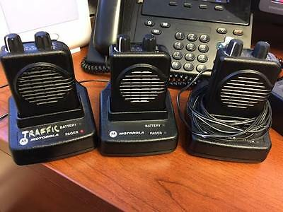 Motorola Minitor V UHF Pager Set of 3 with AC Chargers