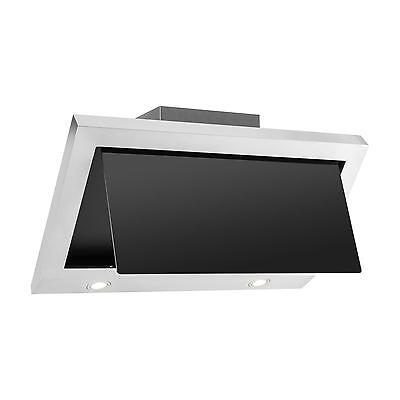 Cooker Hood Hob Stainless Steel Glass Mountable Energy Save Chimney Exhaust 90Cm