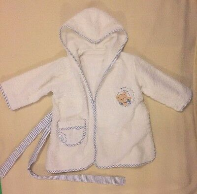 baby boy dressing-gown white  6-12 mth