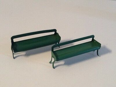 vintage Hornby O Gauge Pre War Station Seats Tin Plate