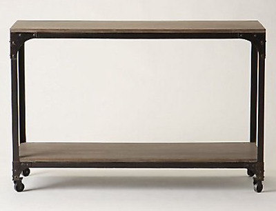 Anthropologie Decker Console: Metal and Wood Industrial Style Console Table