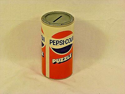 Vintage Pepsi Puzzle Coin Bank - 1980's