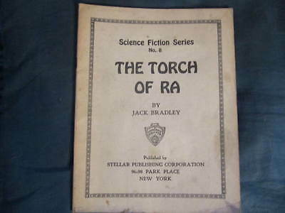 """""""THE TORCH OF RA"""" RARE 1920's SCIENCE FICTION SERIES MAGAZINE ISSUE # 8"""