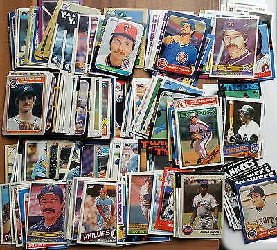 Vintage Baseball Gum Trading Card Collection Topps Donrus Fleer Yankee Checklist