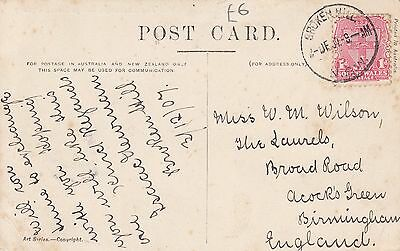 N 2179 Five asstd Federal period NSW stamped used postcards 1901- 1911 mainly OS