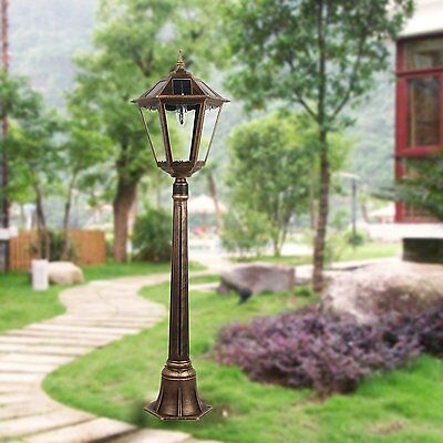 4 feet 2 inch outdoor solar powered lamp post with HIGH Bright LED Lights