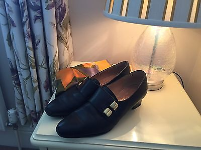 vintage Corin french leather shoes 1940's Size 5.1/2.