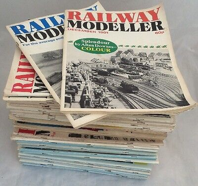 Huge Job Lot Of 55 Railway Modeller Magazine Editions from the 70s 80s and 90s.