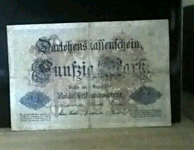 1914 World War 1 German 50 Mark Banknote