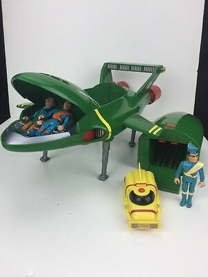 Vintage 1992 Matchbox Thunderbirds T2 And T4 With Figures Battery Operated