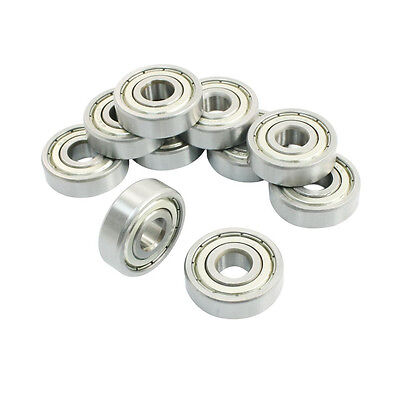 10 Pcs 6200Z 10 x 30 x 9mm Single Row Sealed Deep Groove Ball Bearings C2F5