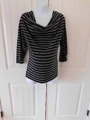 Motherhood maternity black and gray nursing top 3/4 sleeve