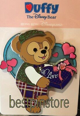 Disney pin - HKDL 2017 Valentine's Day - Duffy With Love Heart Flower