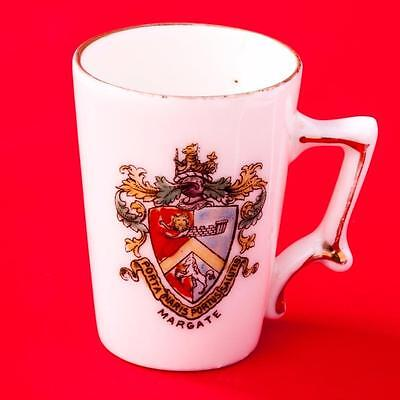 Gemma Czechoslavakia Crested China Handled Drinking Mug Cup  with Margate Crest