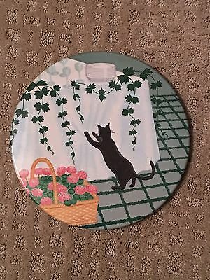 "Mebel Melamine Cat Trivet Footed - Made in Italy - 8"" W"