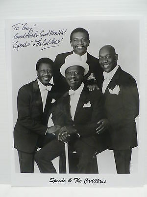 Speedo & The Cadillacs R & B Group Authentic Signed Autograph 8 x 10 Photo