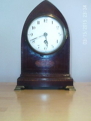 French Edwardian Mantle Clock In Good Condition