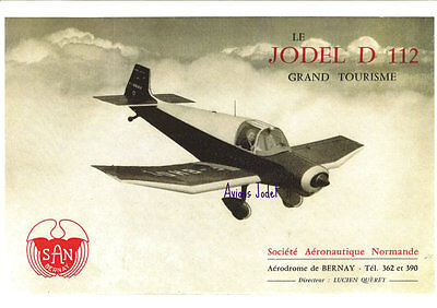 Reproduction publicité vintage JODEL D112 GRAND TOURISME