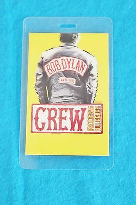 Bob Dylan Laminated Never Ending Tour Crew Backstage Pass - 1988 - Otto