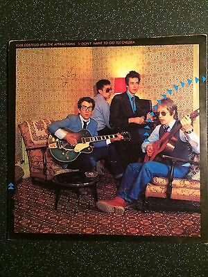 """Elvis Costello - (I Don't Want To Go To) Chelsea - UK 7"""" Single - New Wave"""
