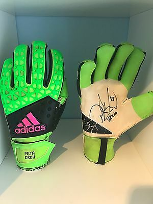 Petr Cech Arsenal Matchworn And Signed Gloves