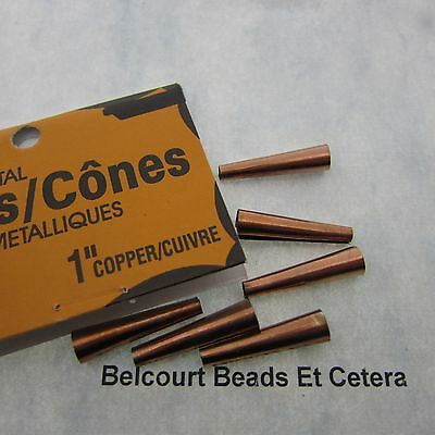 "25 x .98"" Inch (25mm) Copper Aluminum JINGLE CONES Cone Beads Pow Wows Western"
