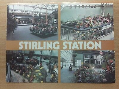 postcard of Stirling Railway station.