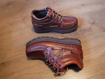 Ladies Brown Leather Lace Up Ankle Boot Shoes  Size 5