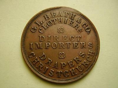1858 G.L.Beath & Co Penny Token 9.2 grams 21mm V Good Very fine or better
