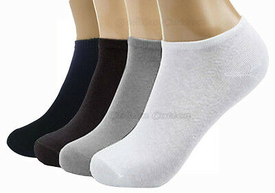 Ladies Cotton Trainer Socks Liner Ankle Socks 3, 6, 12 Pairs Pack