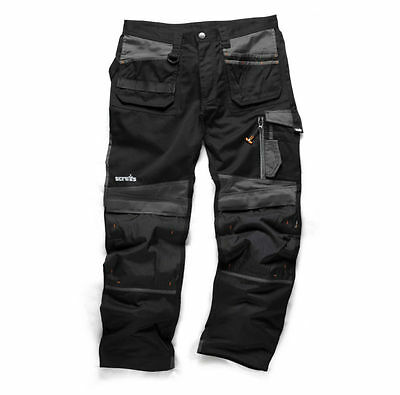 Scruffs 3d Trade Cargo/Combat Work Trousers Black(Manufacturer Refurb) 40% OFF !