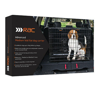 Rac Advanced Folding Dog Puppy Cage Training Crate Free Mat  Bandana Very Strong