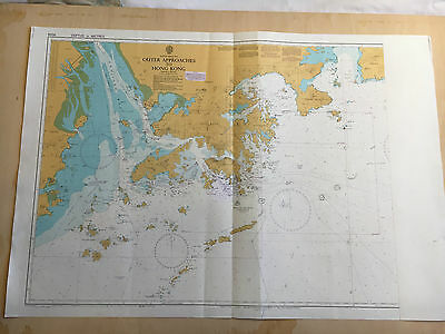 Large Admiralty Chart 3026 Office Map of Hong Kong to Shantou Naval Map 1994
