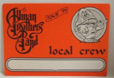 The Allman Brothers Band - Vintage Original Cloth Backstage Pass