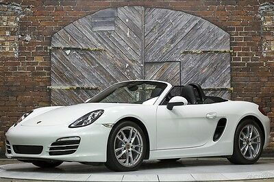 2013 Porsche Boxster 6-Speed Manual White Black 13k Miles BOSE Sound 13 19-Inch Boxster S Wheels Seats Heat Ventilation Convenience Package Superb!