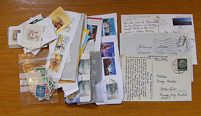 Mixed packet assorted Germany Germany stamps plus postcards and envelopes